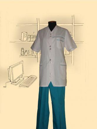 Костюм сорочечный, модель Ассимитрия.