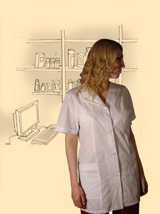 Костюм сорочечный, модель Вера. Верх белый, низ бордо.