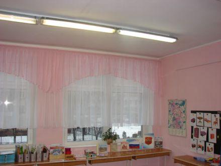 Ламбрекен арка. Розовый, белая полуорганза.