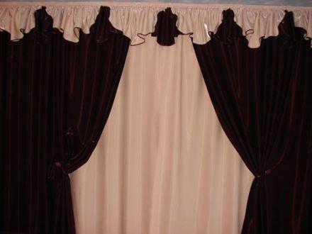 Ламбрекен, двойные фистоны, двойные шторы.