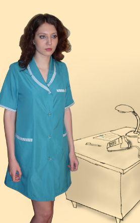 Халат сорочечный зеленый, модель Анна
