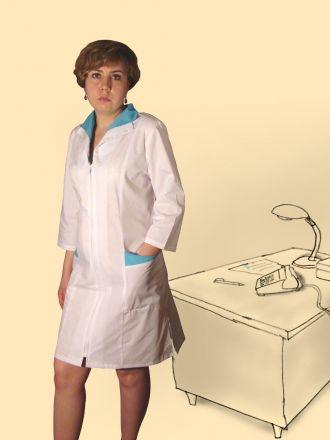 Халат сорочечный на молнии, модель №14