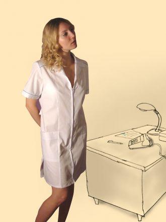 Халат сорочечный на молнии, модель №2