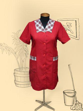 Халат красный габардин мод. Нина